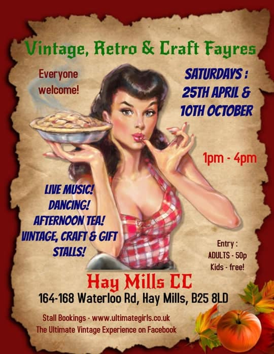 Book a stall at Hay Mills Vintage April 2020