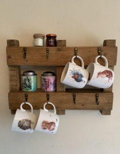 Wooden Rustic Mug Rack | HandMadeByJoe Image