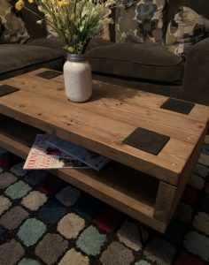 Reclaimed wooden rustic coffee table TV unit stand | HandMadeByJoe Image