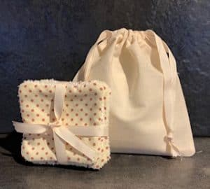 Handmade Eco-Friendly Cotton Bag & Cotton Towelling Facial Wipes | Kiwi Soap Co Image