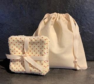 Handmade Eco-Friendly Cotton Bag & Cotton Towelling Facial Wipes   Kiwi Soap Co Image