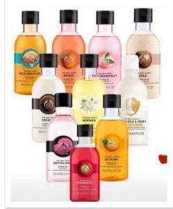 Body Shop Shower Gels Image